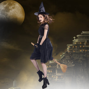 New Black Muslin Night Ghost Witch Cosplay Costume Halloween/Stage/Party