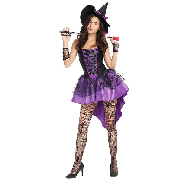 Sexy Purple Swallowtail Witch Cosplay Costume Halloween/Stage/Party