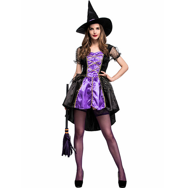 Sexy Purple Swallowtail Tutu Dress Witch Costume Halloween/Stage Performance/Party