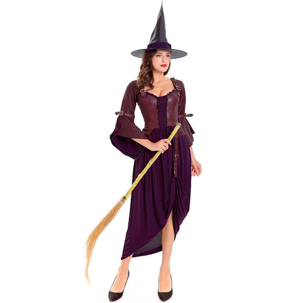 Classic Purple Witch Cosplay Costume Halloween/Stage Performance Party
