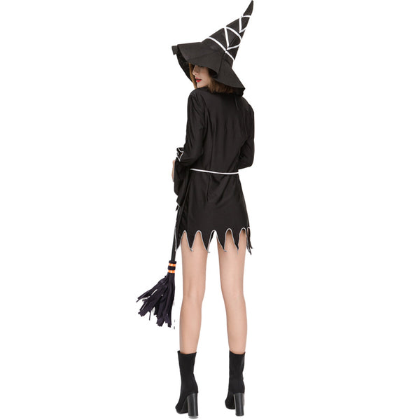 Black Irregular Lace Witch Cosplay Costume Halloween/Stage Performance/Party