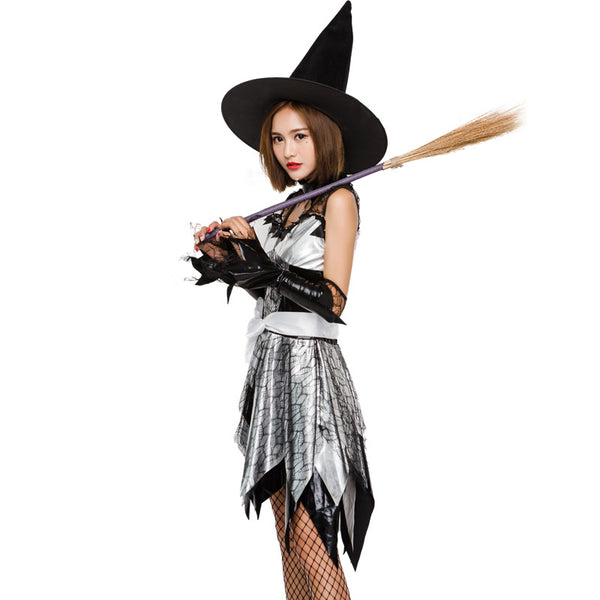 Faux Leather Lace Hot Stamping Witch Costume Halloween/Stage Performance/Party