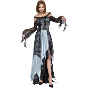 Black Lace Sexy Irregular Witch Cosplay Costume Halloween/Stage Performance/Party