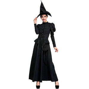 Deluxe Black Coak Witch Cosplay Costume Halloween/Stage Performance/Party