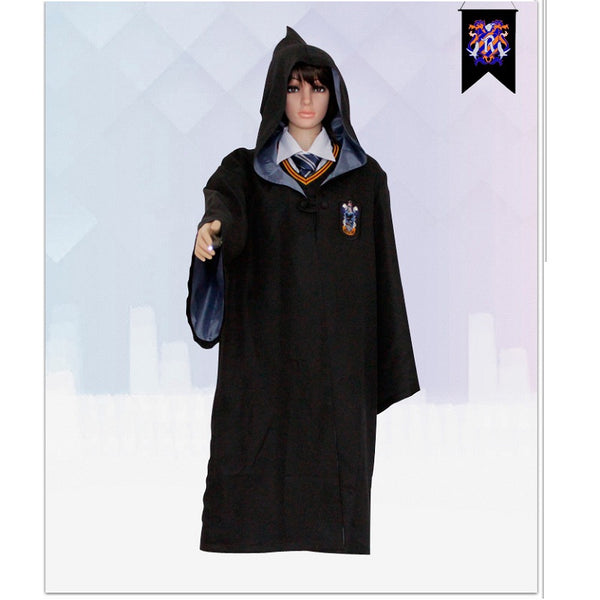 Adult Unisex Harry Potter Hogwarts Robe Cloak Ravenclaw Costume Halloween/Stage Performance/Party