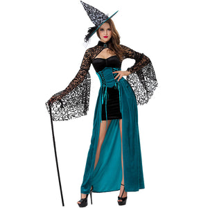 Sexy Afternoon Tea Witch Lace Slim Waist Witch Cosplay Costume Halloween/Stage/Party