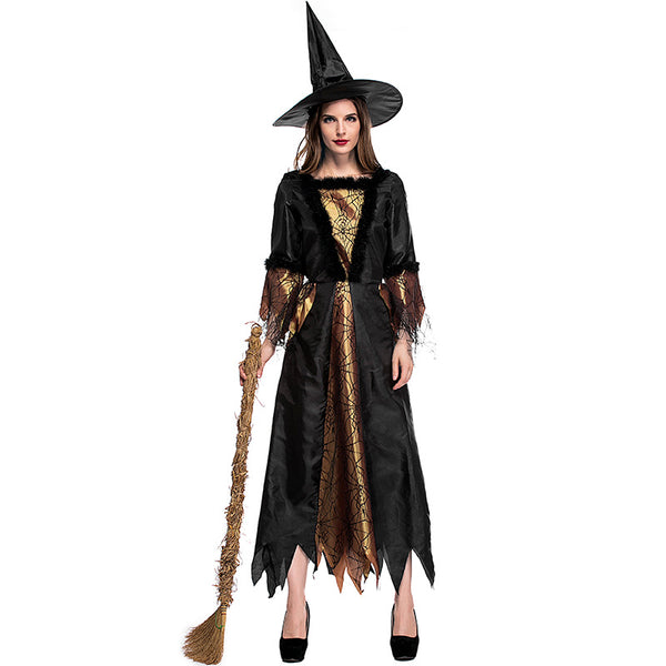 Spider Net Printed Witch Cosplay Costume Halloween/Stage Performance/Party