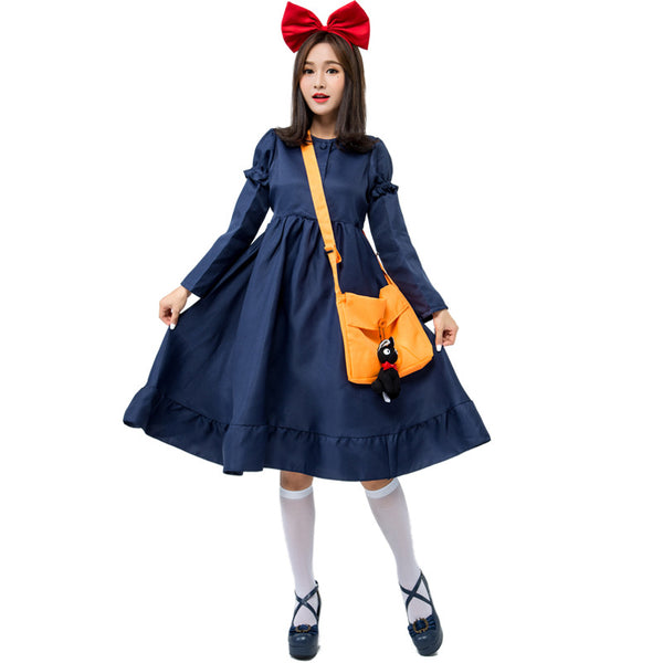 Adult Kiki's Delivery Service Witch Cosplay Costume Halloween/Stage/Party