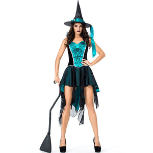 Dovetail Mesh Embroidery Strap Witch Costume Halloween/Stage Performance/Party