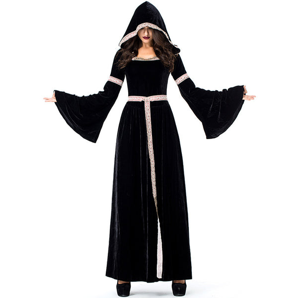 Retro Court Black Witch Cosplay Costume Halloween/Stage Performance/Party