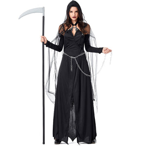 New Black Yarn Impermanence Sling Maxi Dress  Witch Costume Halloween/Stage Performance/Party