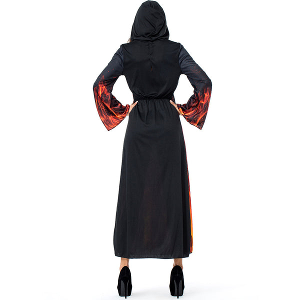 New Hell Flame Demon Witch Costume Halloween/Stage Performance/Party