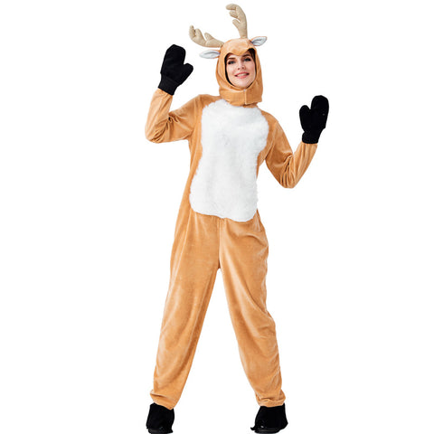 Adult Deer Animal Cosplay Costume Halloween Onesis Women