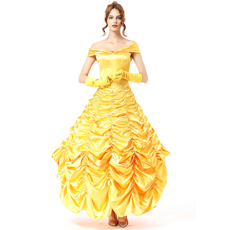 Adult Deluxe Disney Beauty And The Beast Belle Princess Dress Costume Halloween / Stage Performance / Party