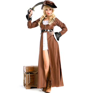 Adult Gothic Style Leather Pirate Cosplay Costume Halloween / Stage Performance / Party