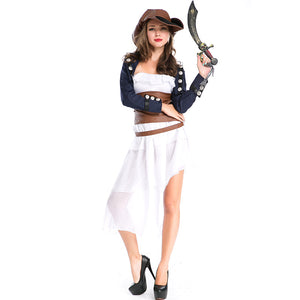 Adult Gothic Style Swashbuckler Pirate Costume Halloween / Stage Performance / Party