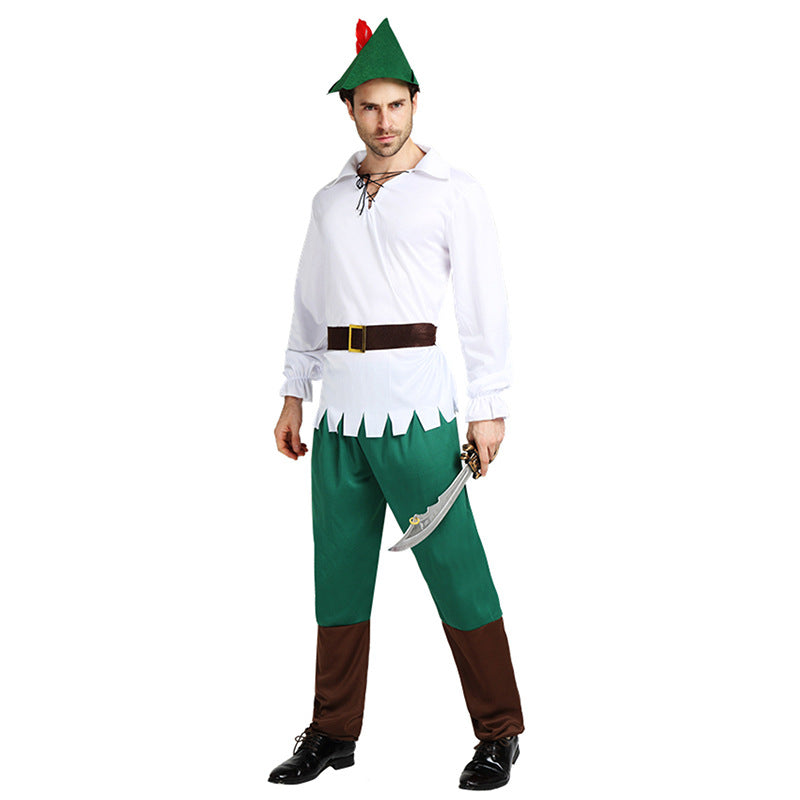 Adult Men's White Peter Pan Cosplay Costume Halloween / Stage Performance / Party