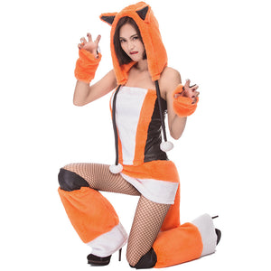 Adult Sexy Fox Animal Cosplay Costume Halloween Women