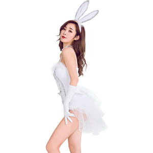 Adult Sexy Rabbit Animal Cosplay Costume Halloween Women