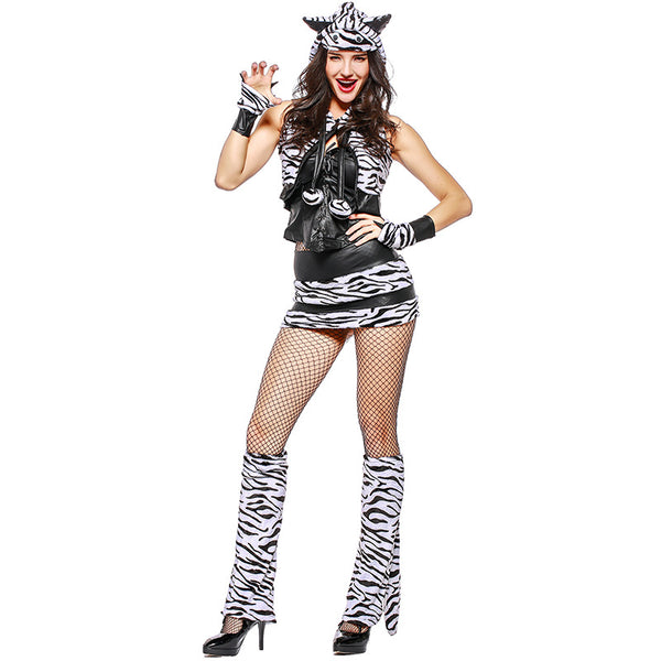 Adult Sexy Tiger Animal Cosplay Costume Halloween Dress For Women