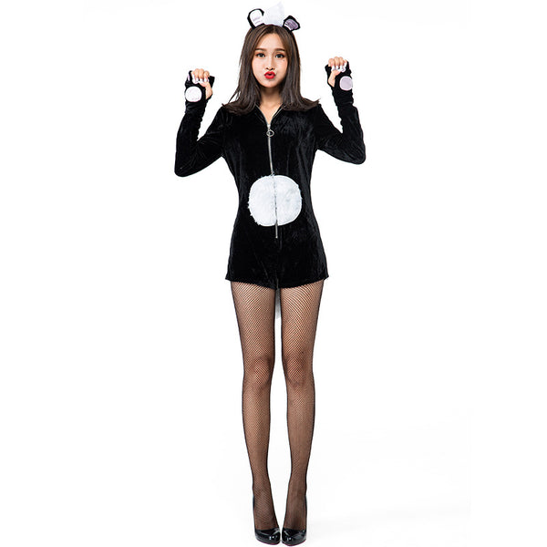Adult Weasels Animal Cosplay Costume Halloween Jumpsuit For Women