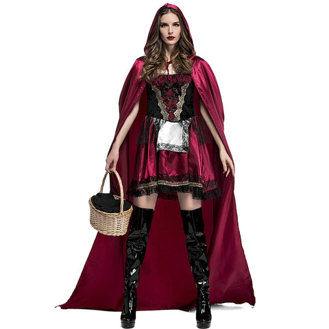 Deluxe Deep Red Little Red Riding Hood Costume