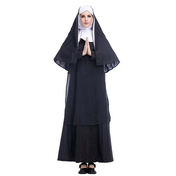 Adult Women Deluxe Nun Costume For Halloween/Stage Performance/Party
