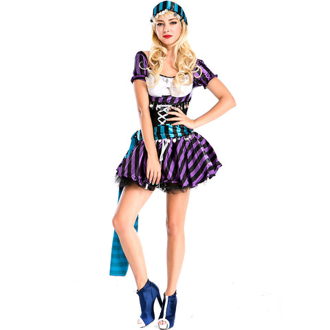 Adult Women Deluxe Wench Pirate Costume Halloween / Stage Performance / Party
