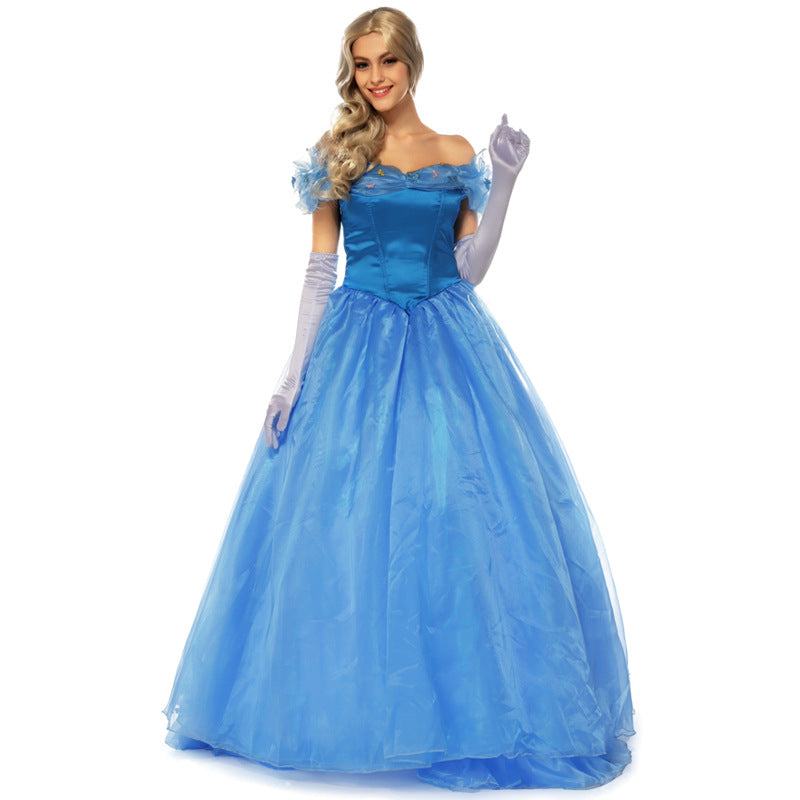 Adult Women Disney Princess Cinderella Dress Costume Halloween / Stage Performance / Party