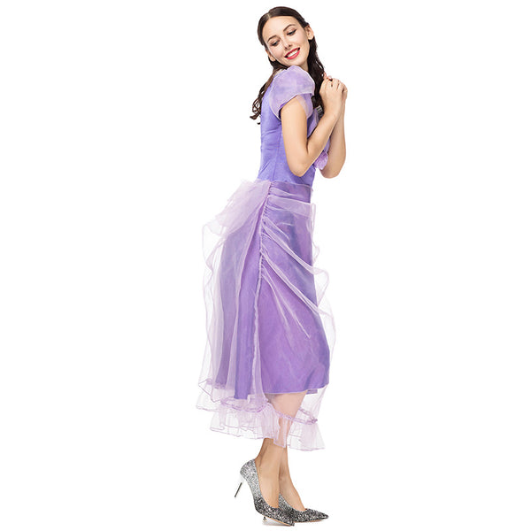 Adult Women Disney Princess Cinderella Purple Dress Costume Halloween / Stage Performance / Party