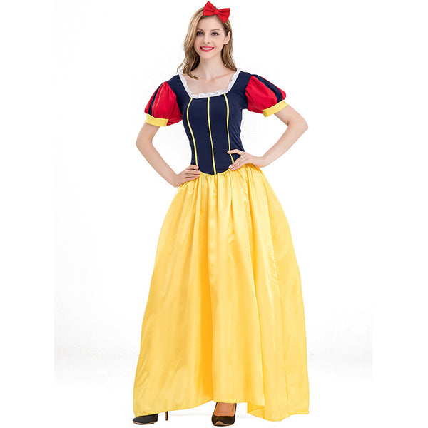 Adult Women Disney Snow White Princess Maxi Dress Costume Halloween / Stage Performance / Party