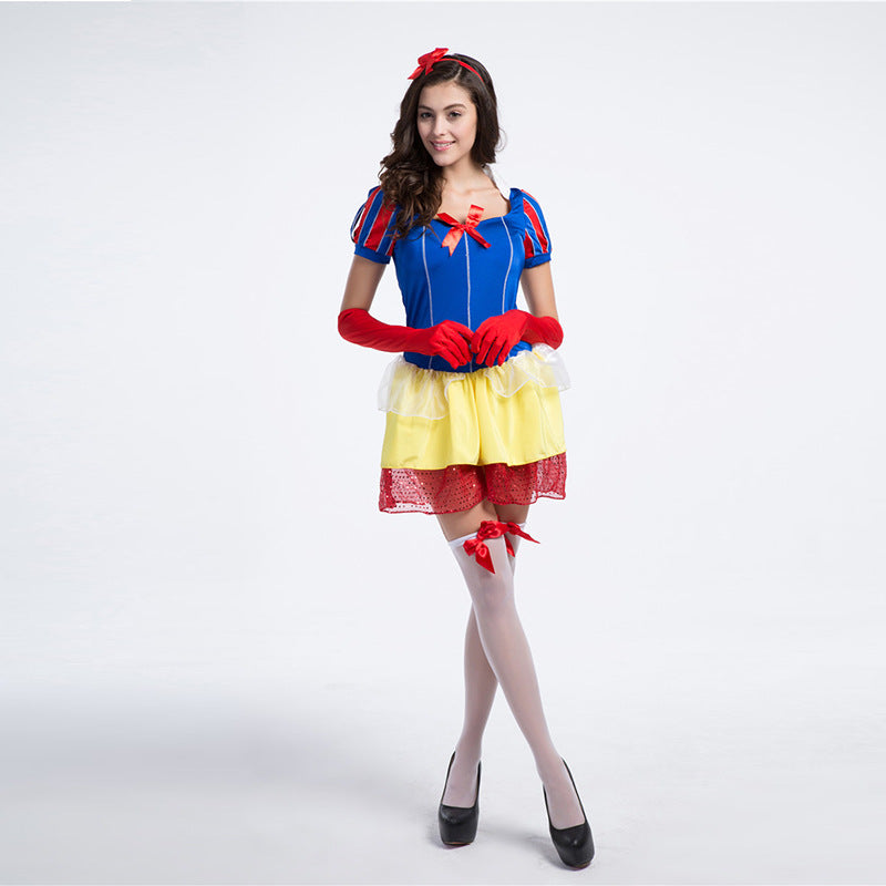 Adult Women Disney Snow White Princess Pouf Dress Costume Halloween / Stage Performance / Party