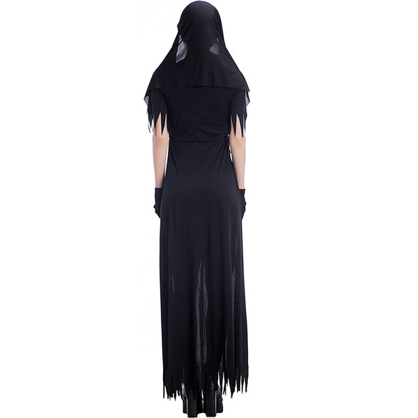 Adult Women Dreadful Nun Costume For Halloween/Stage Performance/Party