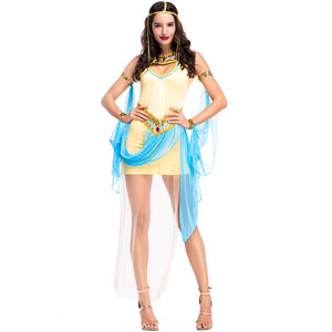 Adult Women Egyptian Pharaoh's Queen & Princess Dress Costume For Halloween/Stage Performance/Party