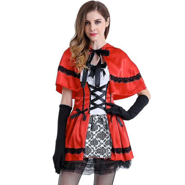 European Roayl Lady Little Red Riding Hood Costume