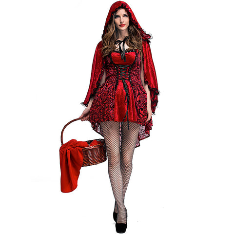 Gothic Style Little Red Riding Hood Costume