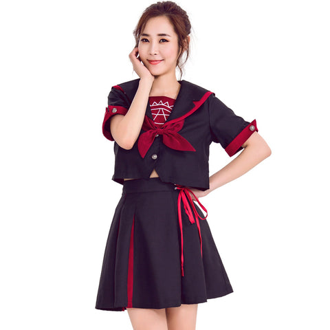 Japanese School Girl Style Navy Sailor Uniform Costume