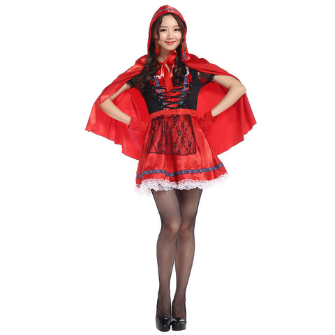 Lace Sweet Little Red Riding Hood Costume