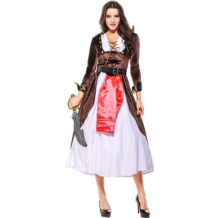 Adult Women Medieval Pirate Costume Halloween / Stage Performance / Party