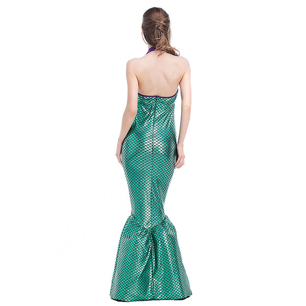 Adult Women Mermaid Tail Princess Dress Costume For Halloween/Stage Performance/Party