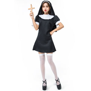 Adult Women Naughty Nun Costume For Halloween/Stage Performance/Party