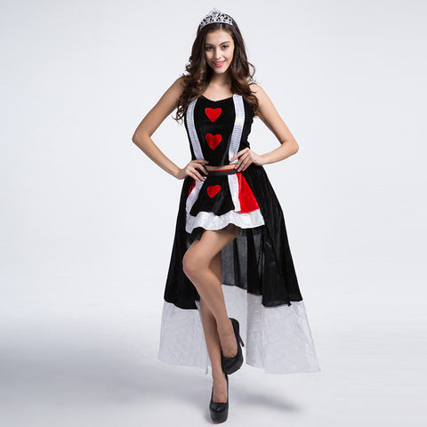 Adult Women Poker Queen of Hearts Leg Avenue Costume For Halloween/Stage Performance/Party