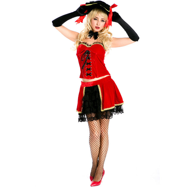 Adult Women Red Victorian Royal Retro Queen Dress Costume For Halloween/Stage Performance/Party