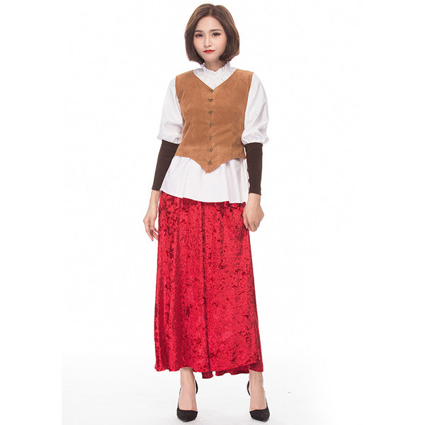 Renaissance Deluxe Roayl Lady Little Red Riding Hood Costume