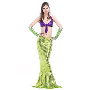 Adult Women Sexy Bikini Mermaid Princess Costume For Halloween/Stage Performance/Party