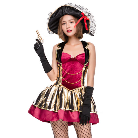 Adult Women Sexy Deluxe Pirate Cosplay Costume Halloween / Stage Performance / Party