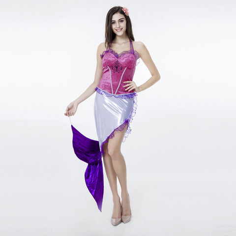 Adult Women Sexy Mermaid Tail Princess Dress Costume For Halloween/Stage Performance/Party