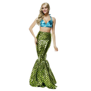 Adult Women Sexy Sequin Mermaid Princess Costume For Halloween/Stage Performance/Party