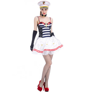 Tube Top Sexy Navy Sailor Costume