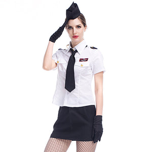 White Navy Sailor Uniform Costume